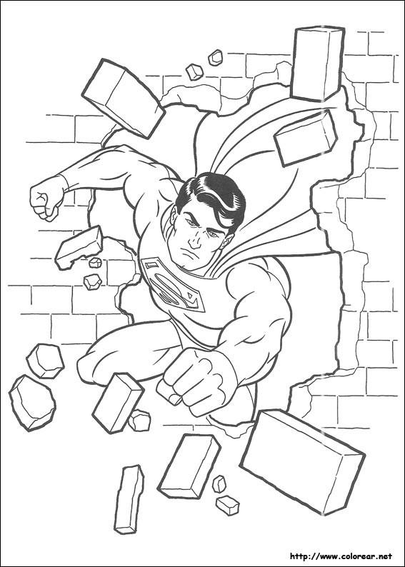 Coloriage Superman gratuit à imprimer liste 20 à 40