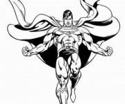 Coloriage Superman en noir et blanc