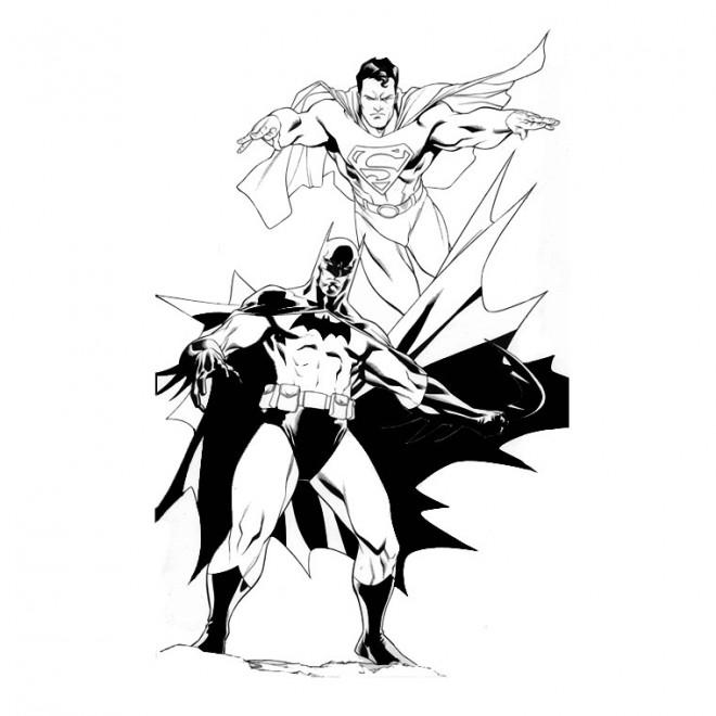 Coloriage superman et batman dessin gratuit imprimer - Coloriage a imprimer batman gratuit ...