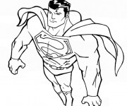 Coloriage Superman facile