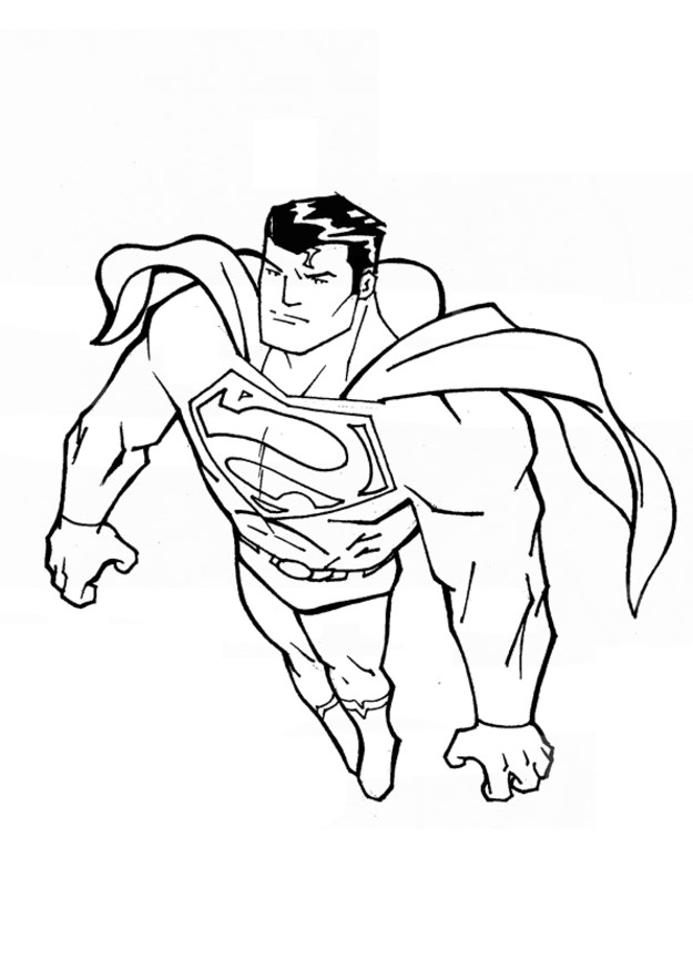 Coloriage superman facile dessin gratuit imprimer - Superman et batman dessin anime ...