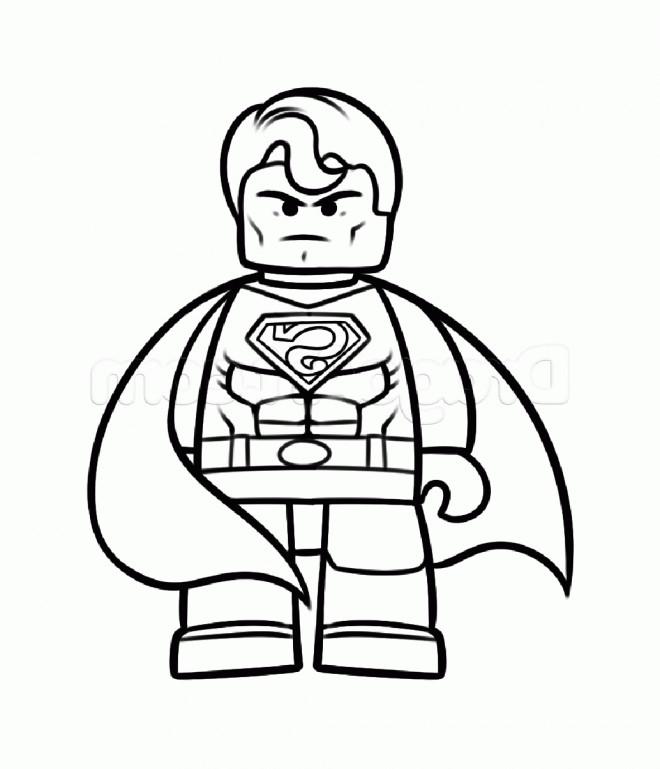 Coloriage Facile Superman.Coloriage Superman Lego Dessin Gratuit A Imprimer