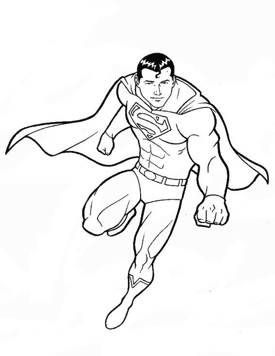 Coloriage Facile Superman.Coloriage Superman Pour Enfant Dessin Gratuit A Imprimer
