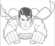 Coloriage Superman s'envole
