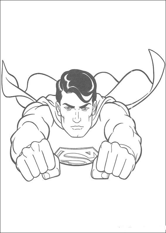 Coloriage et dessins gratuits Superman s'envole à imprimer