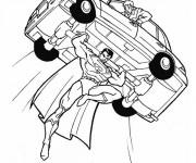 Coloriage Superman sauve le chauffeur