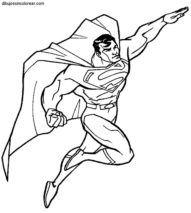Coloriage Facile Superman.Coloriage Superman Super Hero Dessin Gratuit A Imprimer