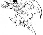 Coloriage Superman tout Fort