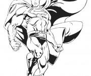 Coloriage Superman vectoriel