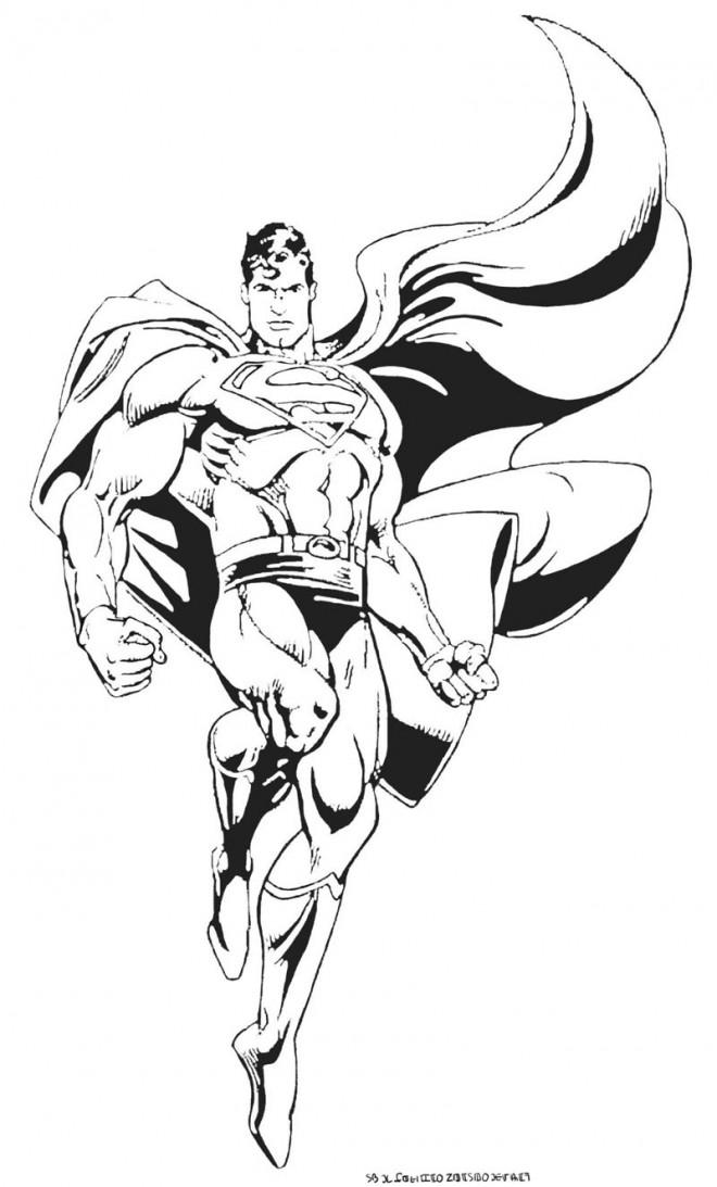 Coloriage et dessins gratuits Superman vectoriel à imprimer