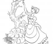 Coloriage Jane et Le Petit de Kerchak