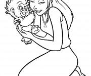Coloriage Jane et Le Petit Terk