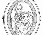 Coloriage Jane et sa Famille