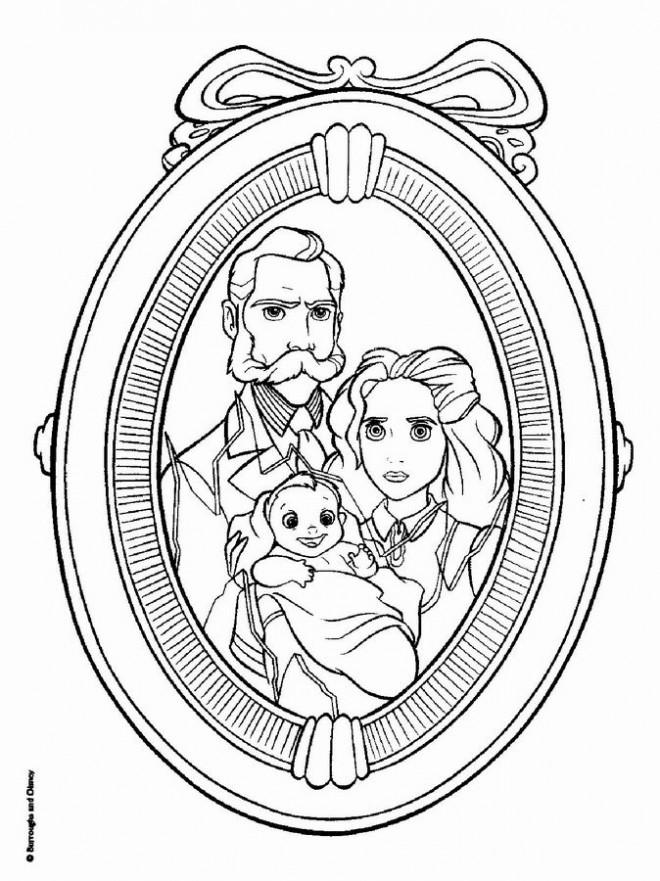 Coloriage et dessins gratuits Jane et sa Famille à imprimer