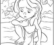 Coloriage Le Petit Tarzan triste