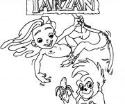 Coloriage Le Petit Tarzan Walt Disney