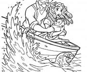 Coloriage Les Parents de Tarzan dans La Mer