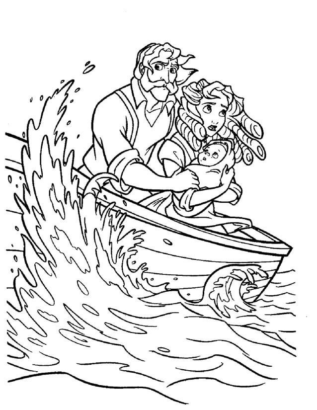 Coloriage et dessins gratuits Les Parents de Tarzan dans La Mer à imprimer