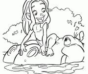Coloriage Petit Tarzan et L'hippopotame