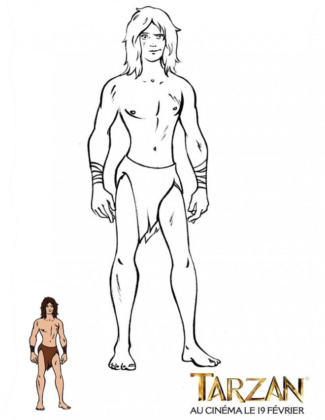 Coloriage Tarzan A Colorier Dessin Gratuit A Imprimer