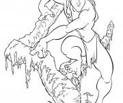 Coloriage Tarzan à découper