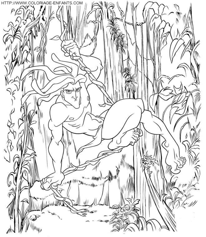 Coloriage Tarzan Affiche Dessin Gratuit A Imprimer