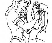 Coloriage Tarzan amoureux avec Jane
