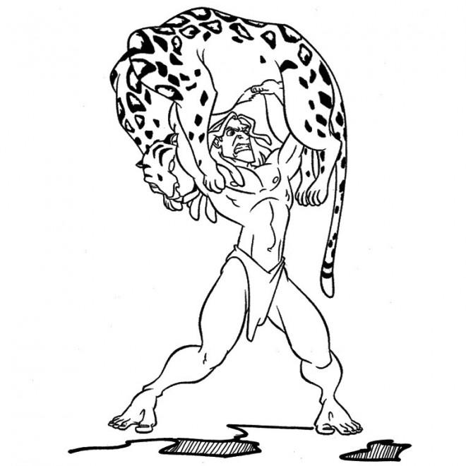 Coloriage Tarzan Bande Dessinee Dessin Gratuit A Imprimer
