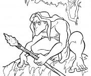 Coloriage Tarzan couleur