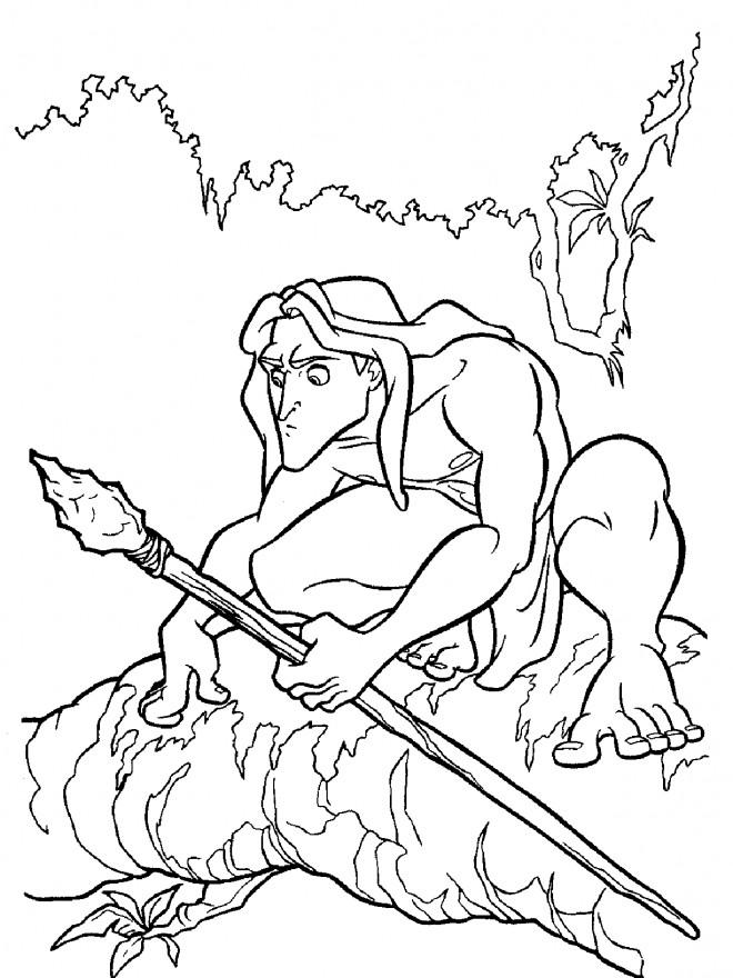 Coloriage et dessins gratuits Tarzan couleur à imprimer