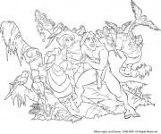 Coloriage Tarzan dans le royaume de la jungle
