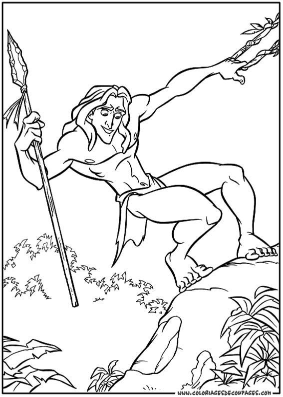 Coloriage Tarzan Disney Dessin Gratuit A Imprimer
