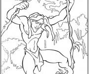 Coloriage Tarzan en ligne