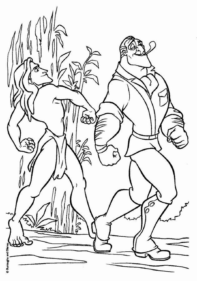 Coloriage et dessins gratuits Tarzan humoristique à imprimer