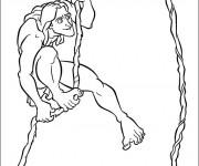 Coloriage Tarzan pour enfant