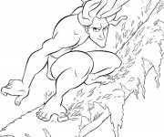 Coloriage Tarzan stylisé