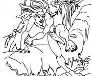 Coloriage Tarzan sur L'arbre