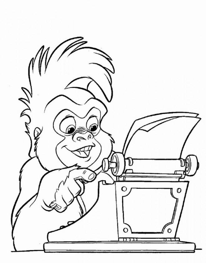 Coloriage et dessins gratuits Tarzan Terk comique à imprimer