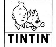 Coloriage Affiche de Tintin et Milou