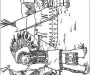 Coloriage Aventure de Tintin dessin animé