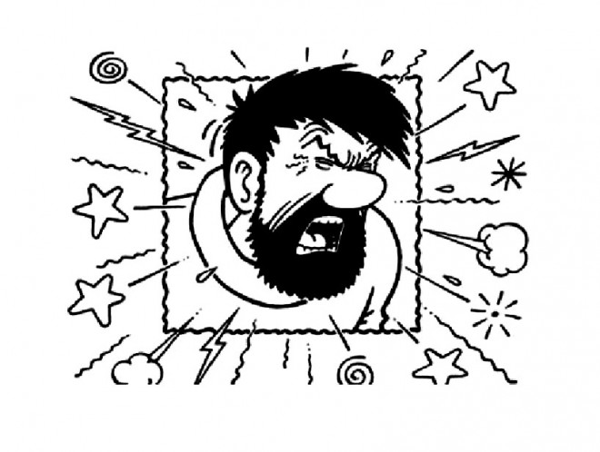 Coloriage capitaine haddock nerv dessin gratuit imprimer - Tintin gratuit ...