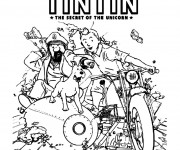 Coloriage et dessins gratuit Les Aventures de Tintin à imprimer