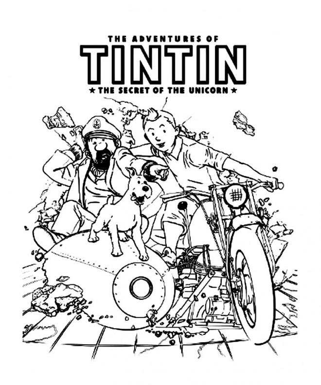 Coloriage les aventures de tintin dessin gratuit imprimer - Tintin gratuit ...