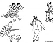Coloriage et dessins gratuit Les Personnages de Tintin à imprimer