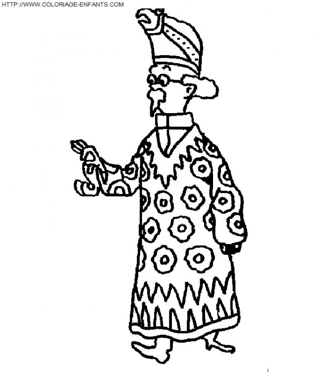 Coloriage et dessins gratuits Portrait de Professeur Tournesol à imprimer