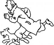 Coloriage Tintin 13