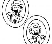 Coloriage Tintin 17