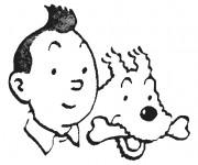 Coloriage Tintin 8
