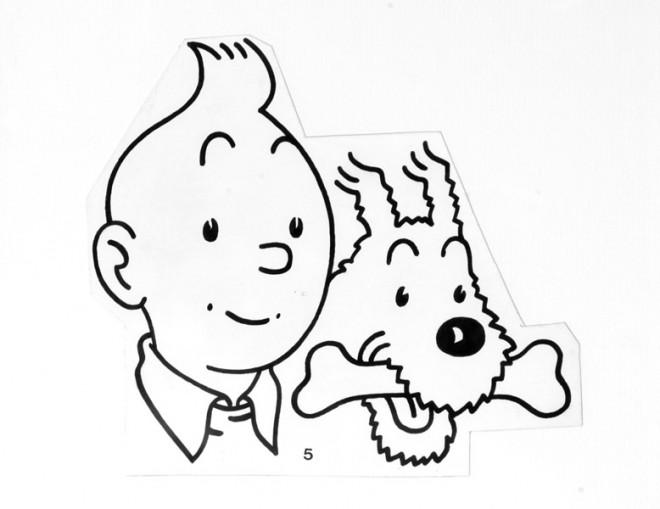 Coloriage et dessins gratuits Tintin à découper à imprimer