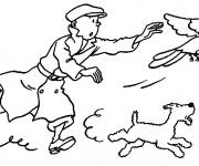 Coloriage Tintin à télécharger